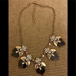 J crew necklace VGUC tortoiseshell/ rhinestones